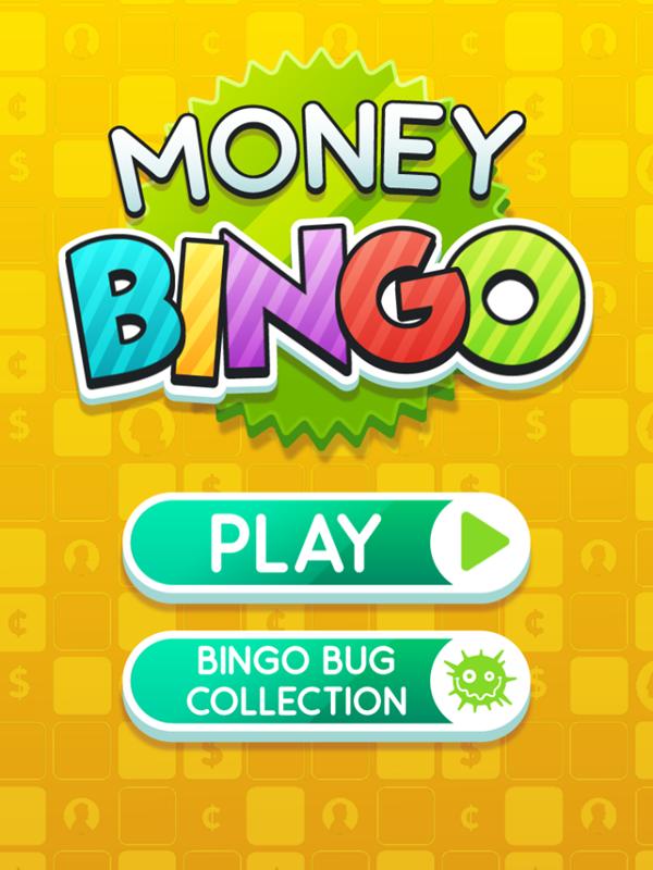 Money Bingo Game Welcome Screen Screenshot.