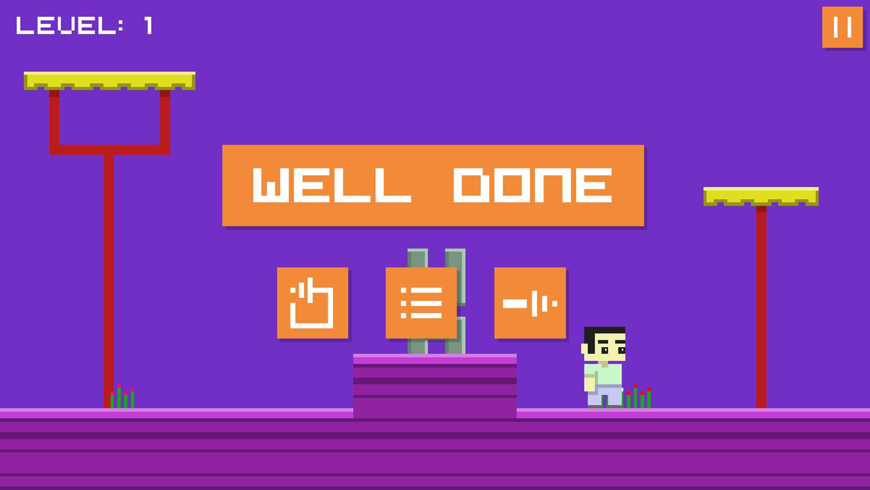Money Land 2 Game Level Complete Screenshot.