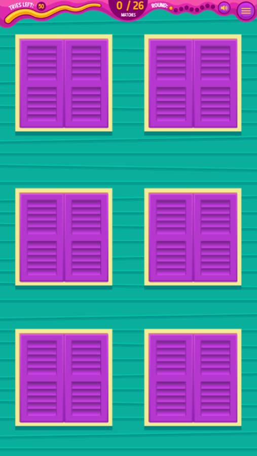 Monster Mansion Match Game Start Screenshot.