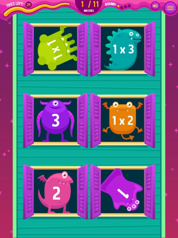 Monster Mansion Match Math Game Correct Answer Screenshot.