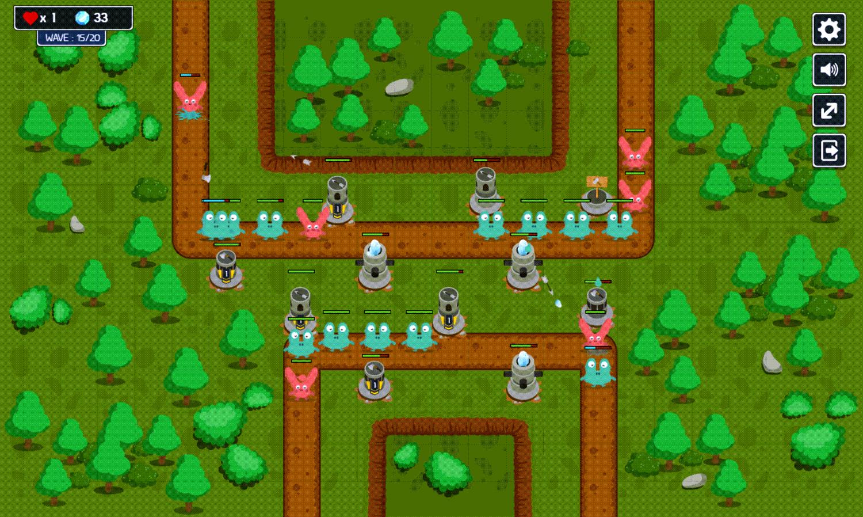 Monster Rush Tower Defense Game Welcome Screen Screenshot.