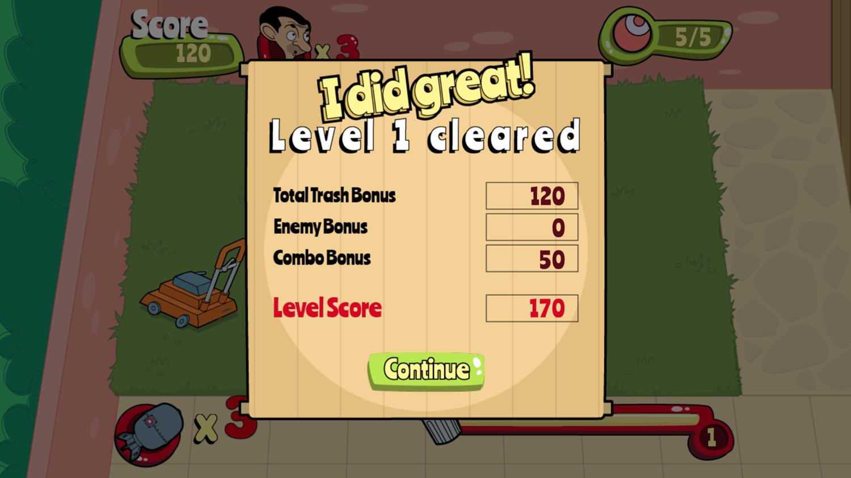 Mr. Bean Backyard Junk Level Beat Screenshot.
