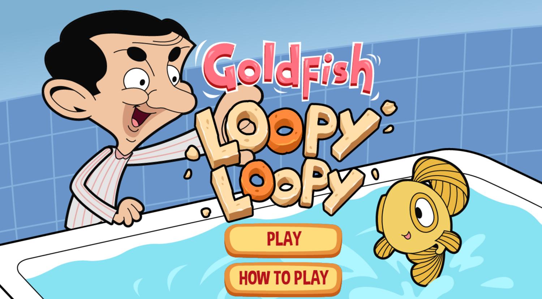Mr. Bean Goldfish Loopy Loopy Welcome Screen Screenshot.