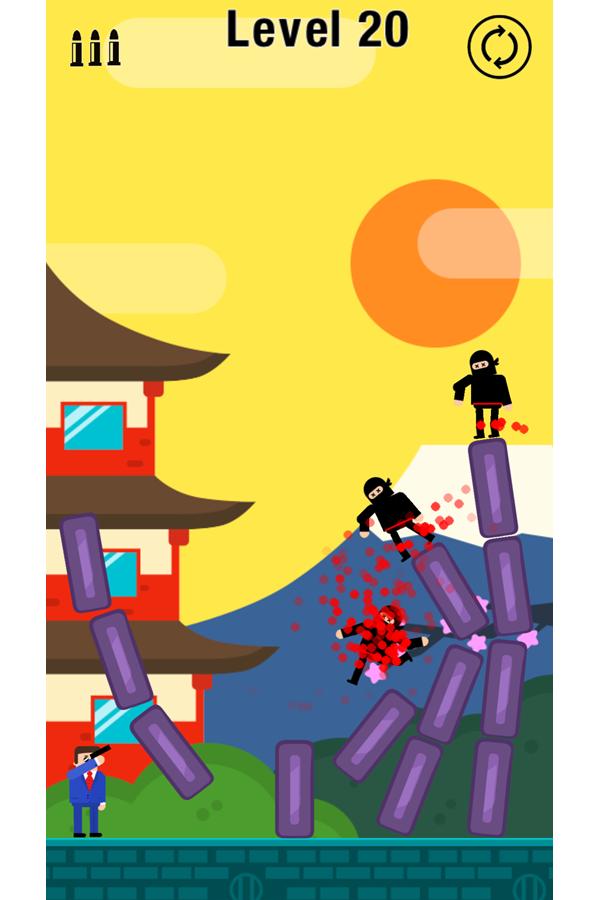 Mr Bullet Game Ninjas Screenshot.
