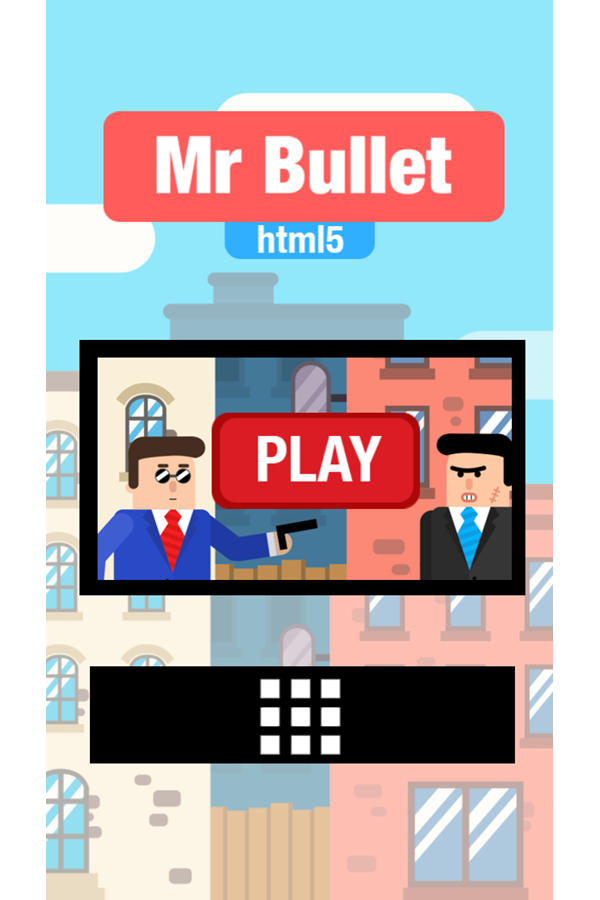 Mr Bullet Game Welcome Screenshot.
