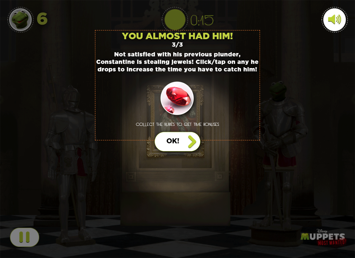 Muppets Most Wanted Catch Constantine Game Play Tips Screenshot.