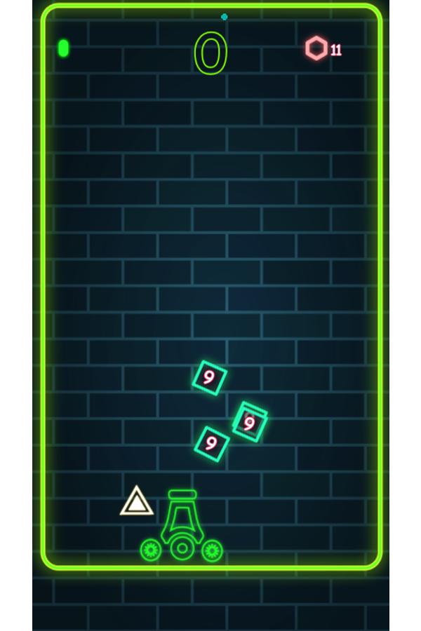 Neon Cannon Game Screenshot.