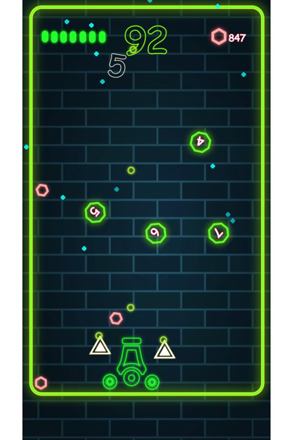 Neon Cannon Game Play Screenshot.
