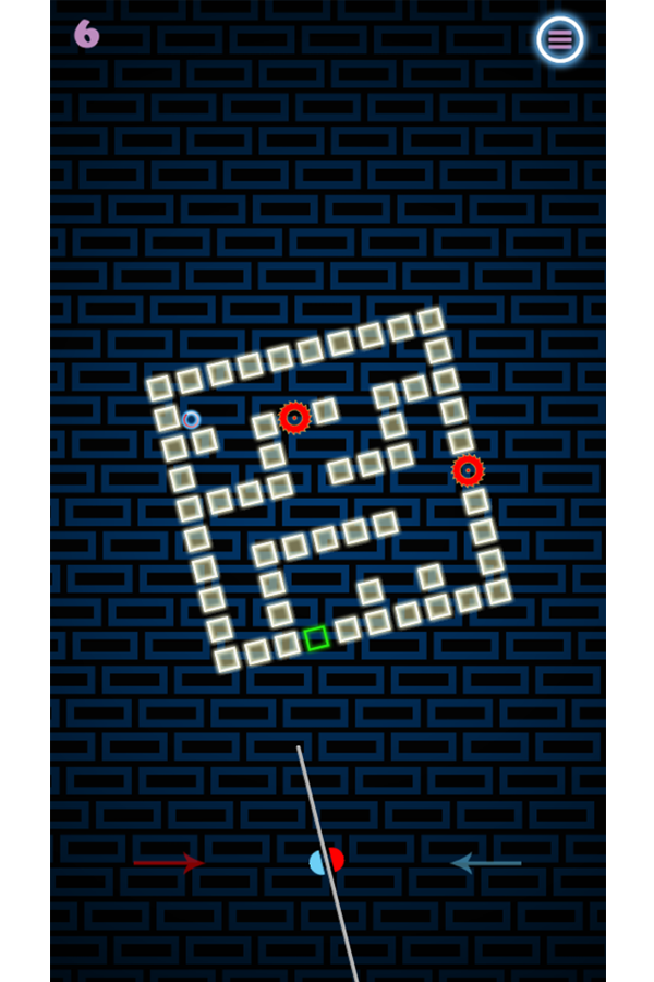 Neon Maze Control Game Screenshot.