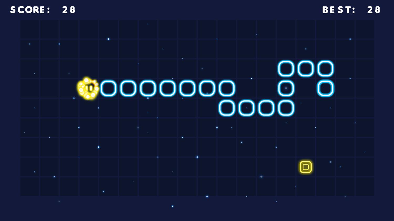 Neon Snake Game Screenshot.