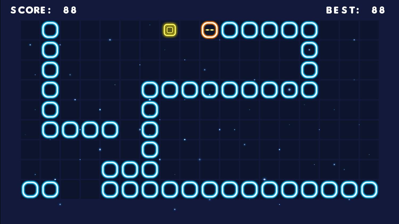Neon Snake Game Hard Screenshot.