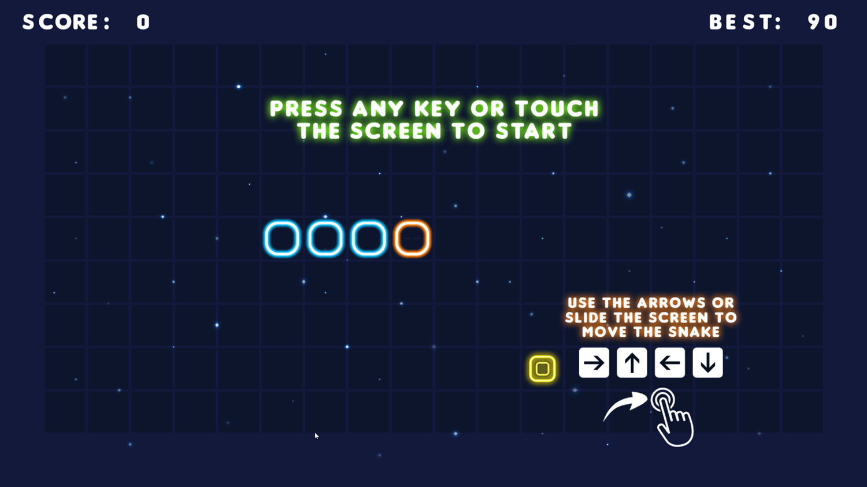 Neon Snake Instructions Screenshot.