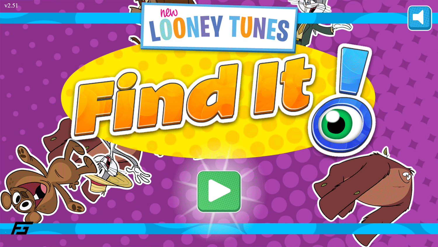 New Looney Tunes Find It Game Welcome Screen Screenshot.