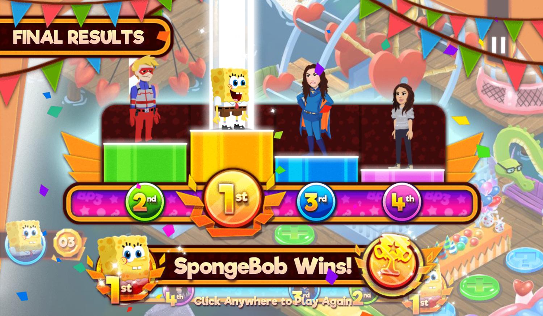 Nick Block Party 3 Game Final Results Screenshot.