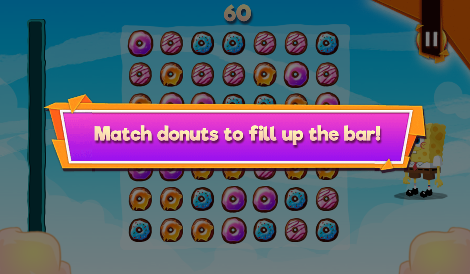 Nick Block Party 3 Game Mini Game Donut Frenzy How To Play Screenshot.
