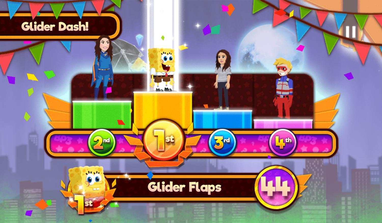 Nick Block Party 3 Game Mini Game Glider Dash Results Screenshot.