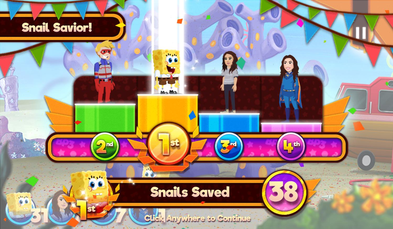 Nick Block Party 3 Game Mini Game Glider Snail Savior Screenshot.