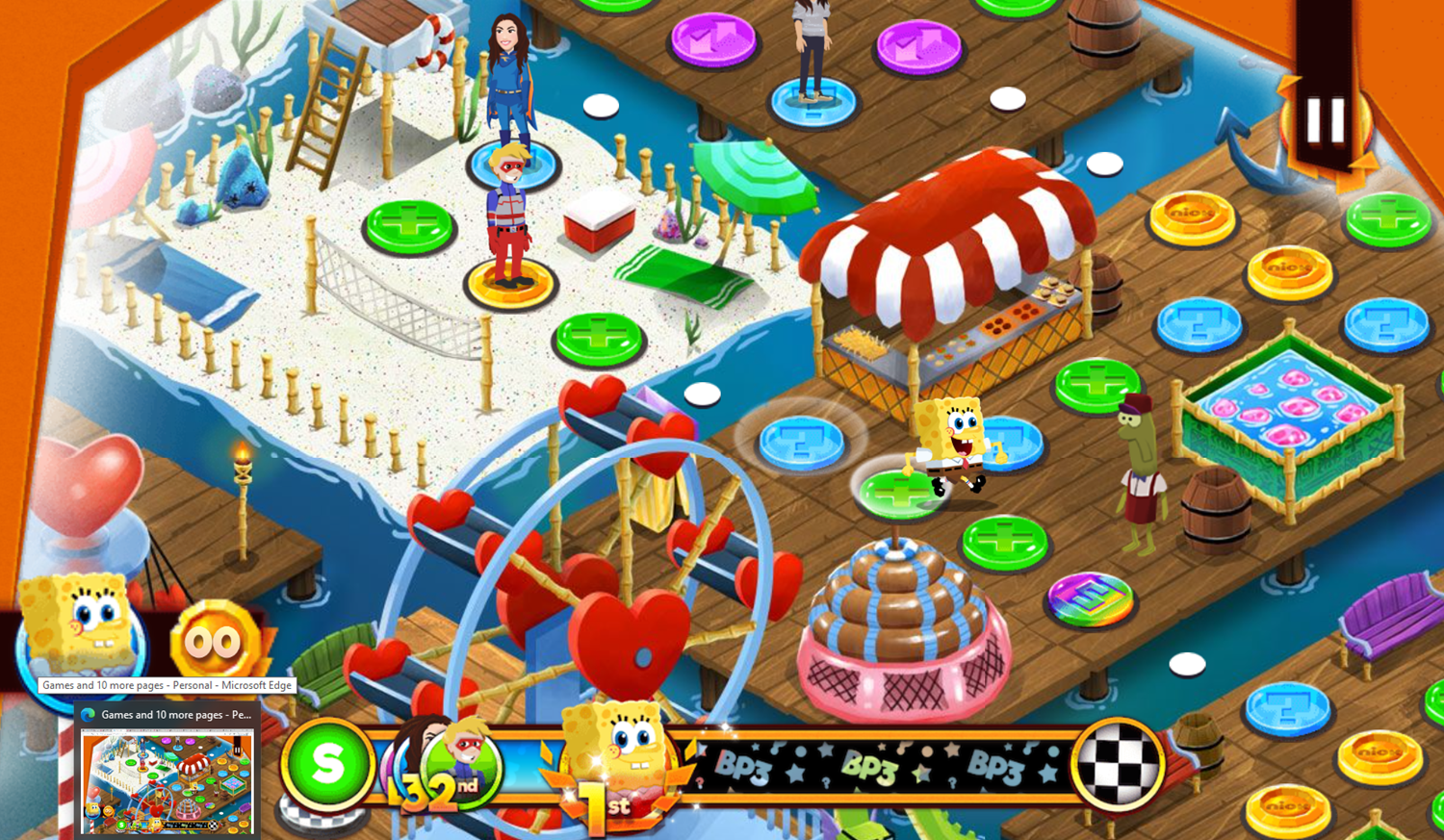 Nick Block Party 3 Game Move On Board Screenshot.