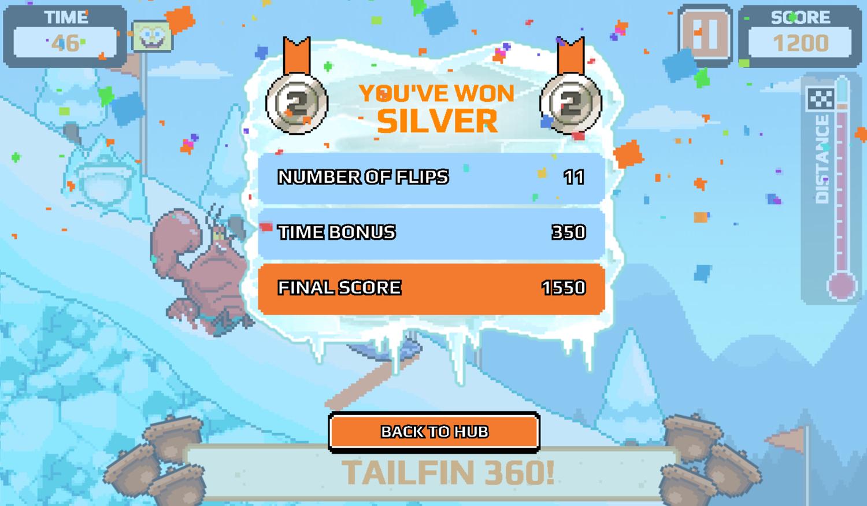 Nick Champions of the Chill 2 Game High Kickin Shreddin Score Screenshot.