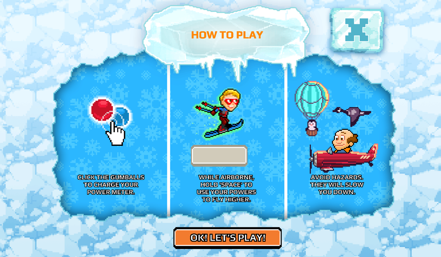 Nick Champions of the Chill 2 Game Light Speed Skiing How To Play Screenshot.