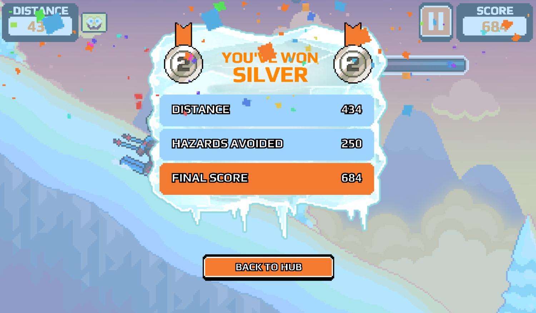 Nick Champions of the Chill 2 Game Light Speed Skiing Score Screenshot.