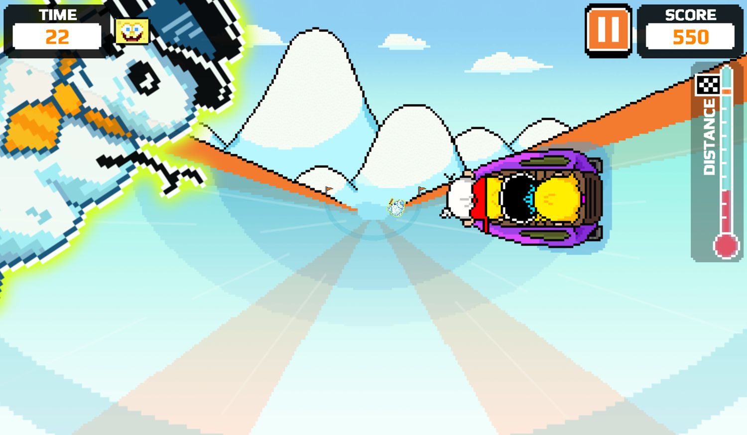 Nick Champions of the Chill 2 Game Loud Loud Loud Sled Gameplay Screenshot.