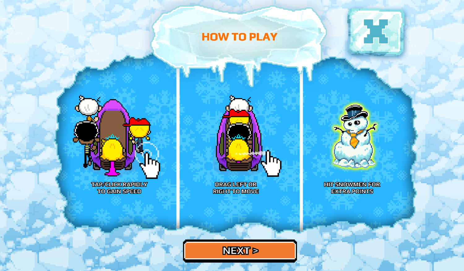 Nick Champions of the Chill 2 Game Loud Loud Loud Sled How To Play Screenshot.