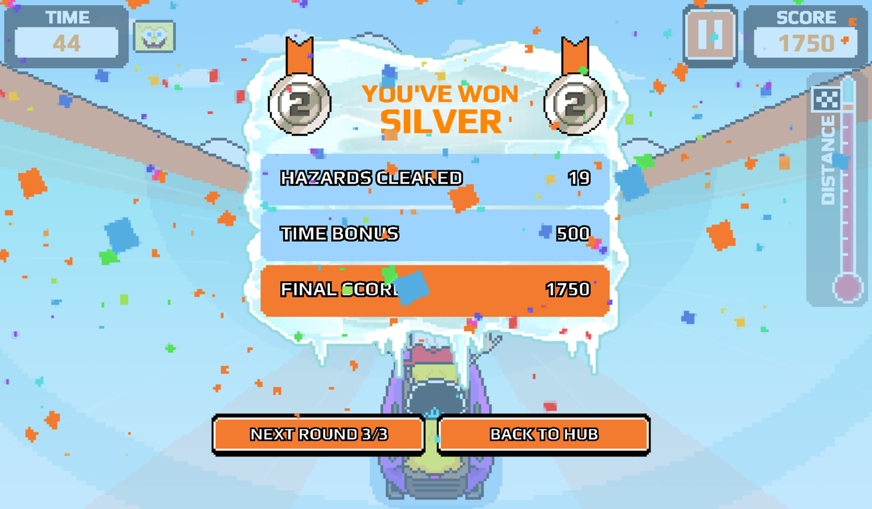 Nick Champions of the Chill 2 Game Loud Loud Loud Sled Score Screenshot.