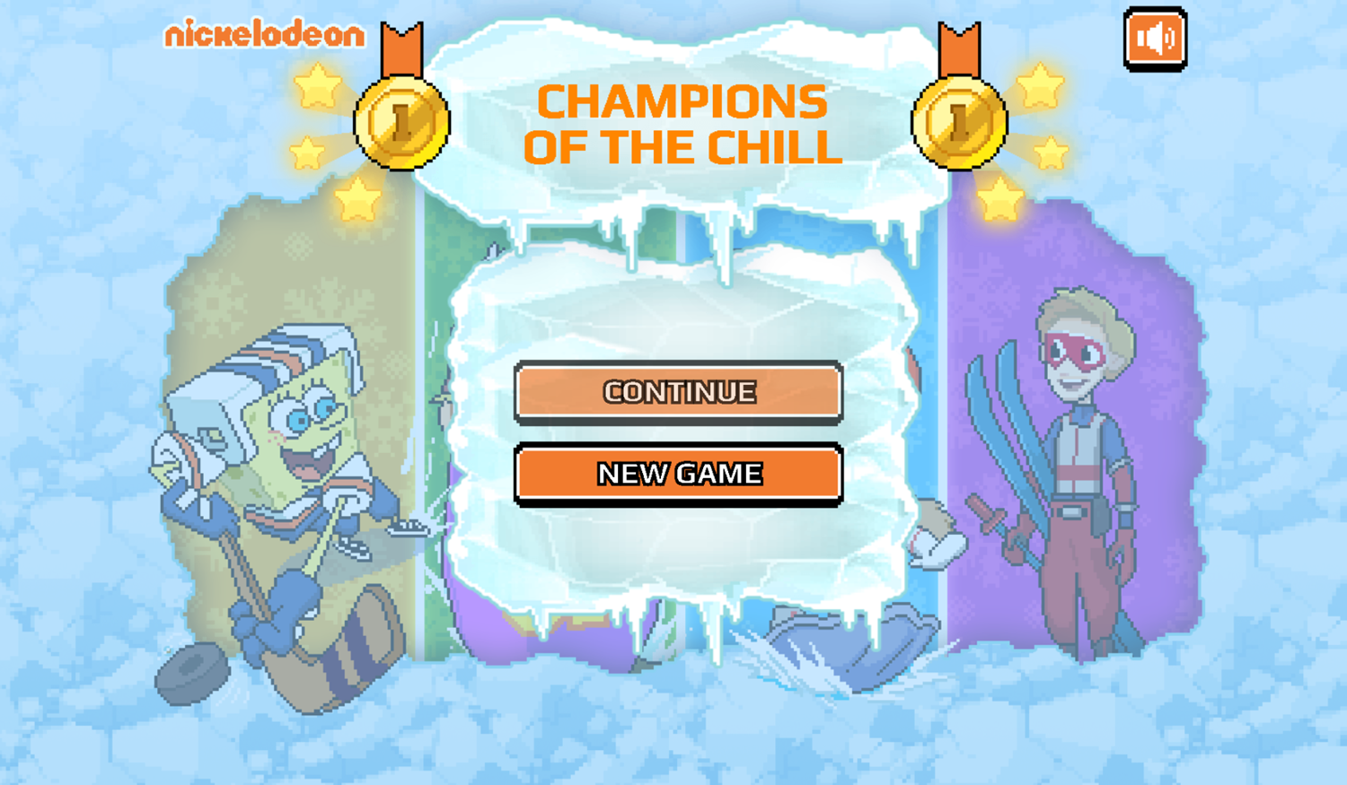 Nick Champions of the Chill 2 New Game Screenshot.