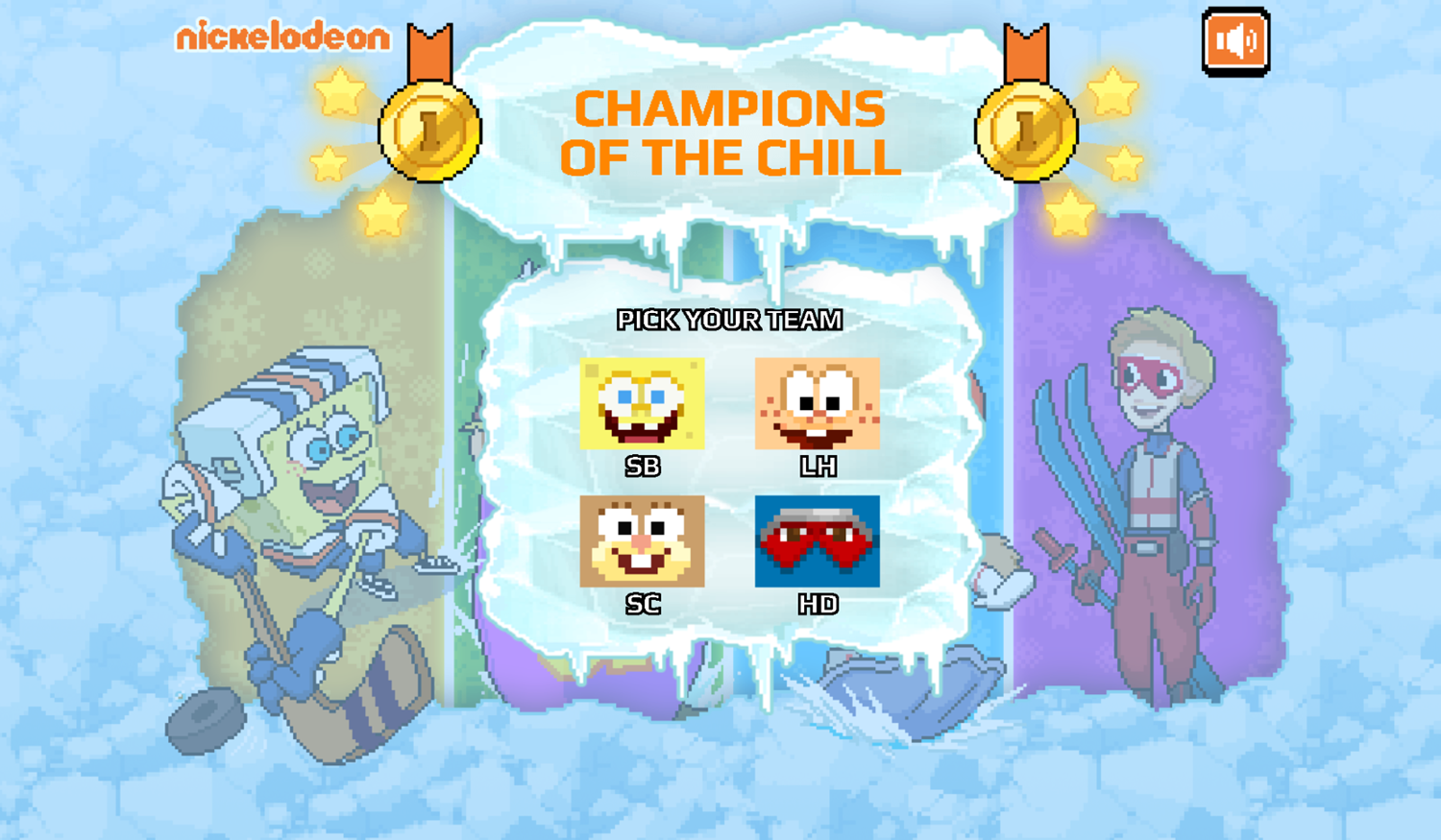 Nick Champions of the Chill 2 Game Pick Team Screenshot.