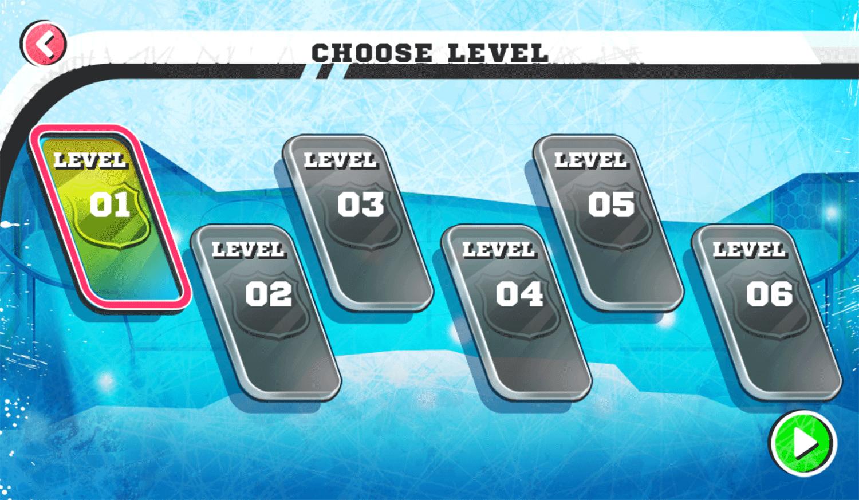 Nick Hockey Stars Choose Level Screenshot.