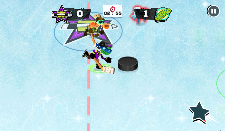 Nick Hockey Stars Game Screenshot.