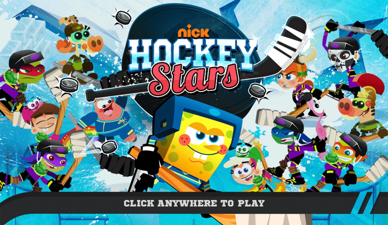 Nick Hockey Stars Welcome Screen Screenshot.