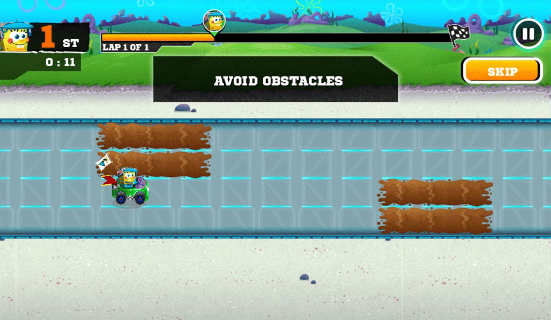 Nick Racing Stars Extra Tips Screenshot.