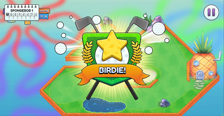 Nick Ultimate Mini Golf Universe Birdie Screenshot.