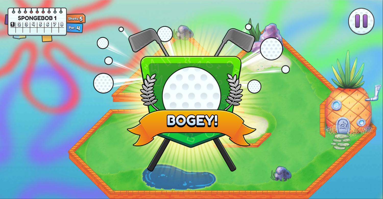 Nick Ultimate Mini Golf Universe Bogey Screenshot.