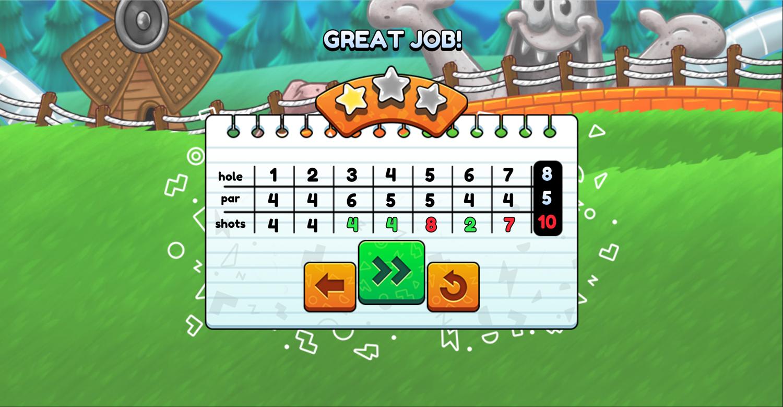 Nick Ultimate Mini Golf Universe Course Complete Screenshot.
