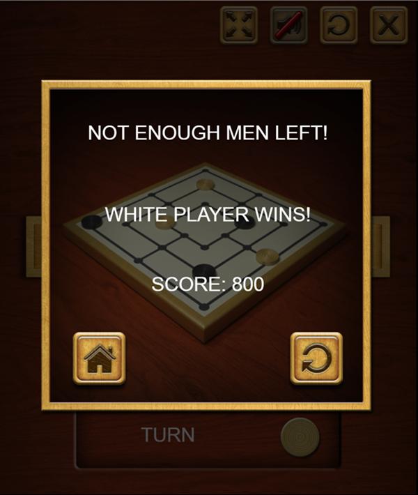 Nine Men's Morris You Win.