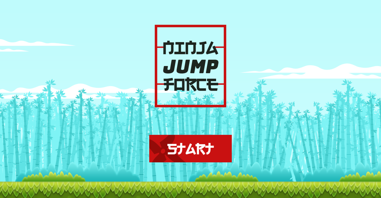 Ninja Jump Force Game Welcome Screenshot.