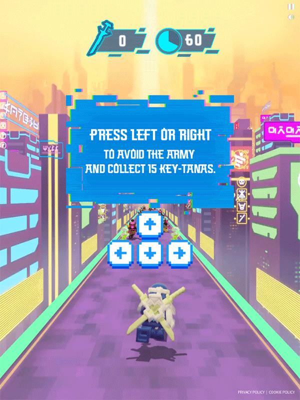 Ninjago Keytana Quest Game 1st Level How To Play Screenshot.