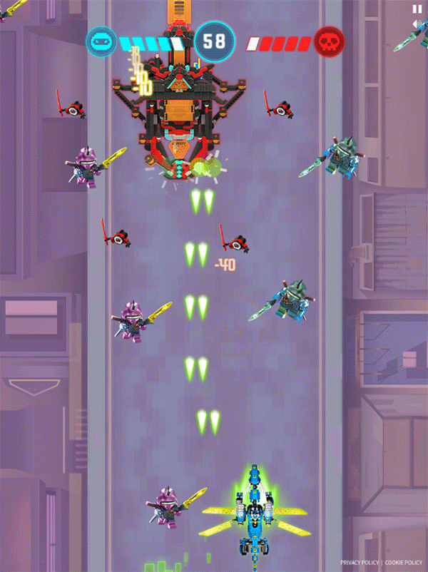 Ninjago Keytana Quest Game 2nd Level Game Screenshot.