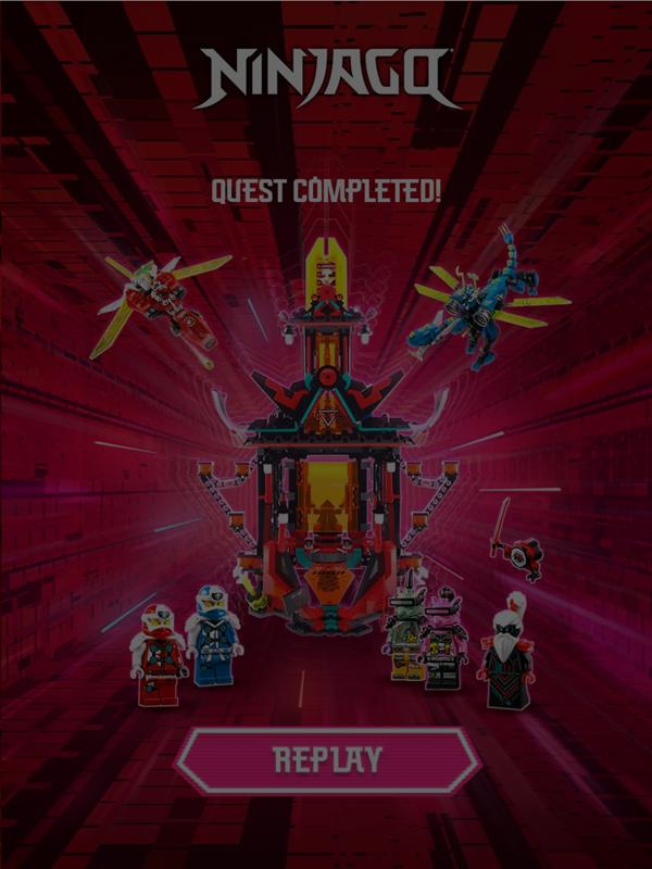 Ninjago Keytana Quest Completed Screenshot.