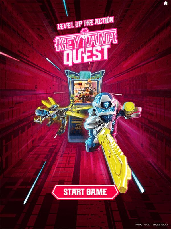 Ninjago Keytana Quest Game Welcome Screen Screenshot.