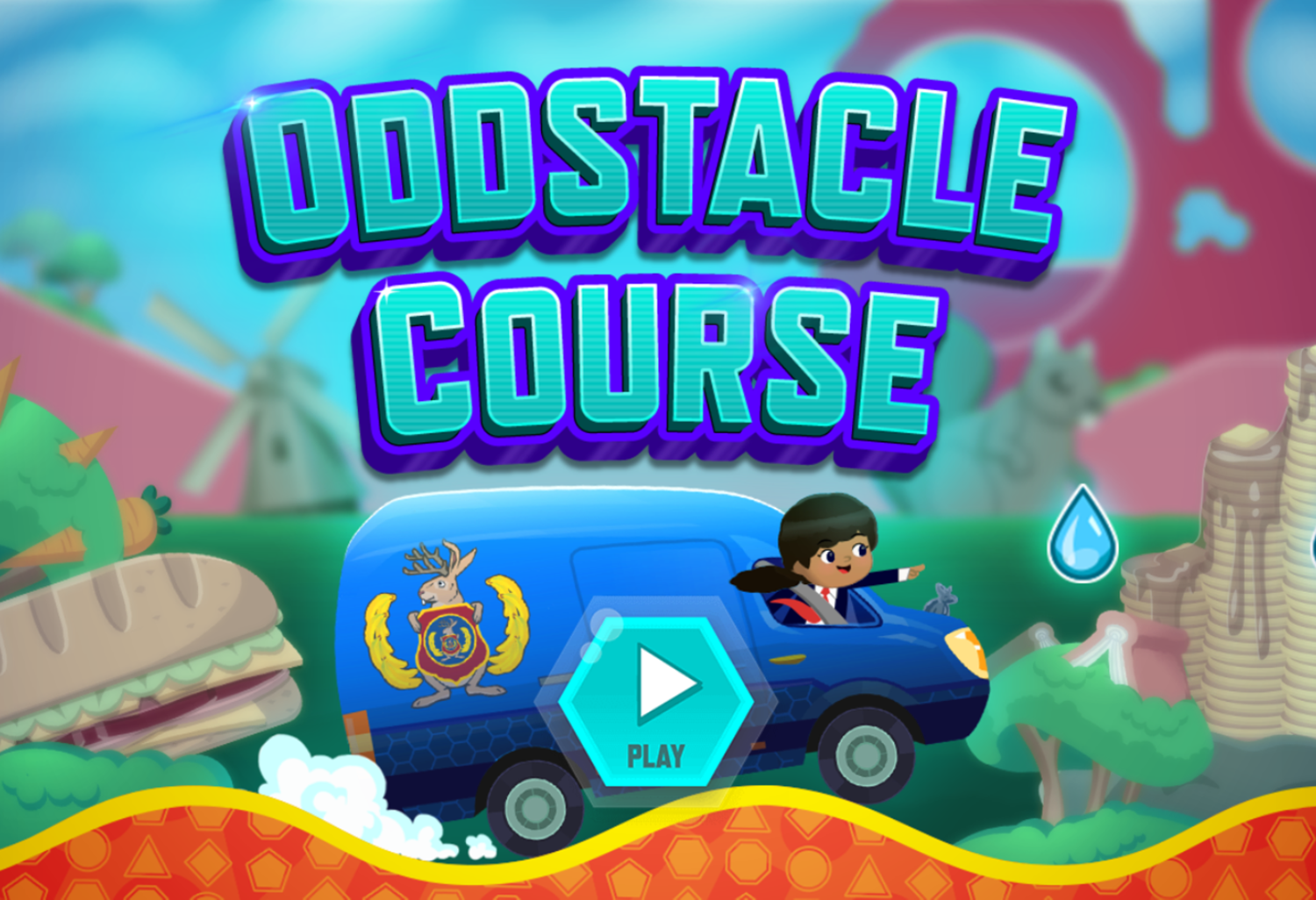 Odd Squad Oddstacle Course Game Welcome Screen Screenshot.