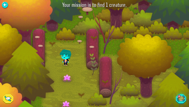 Odd Squad Sector 21 Game Mission Start Screenshot.