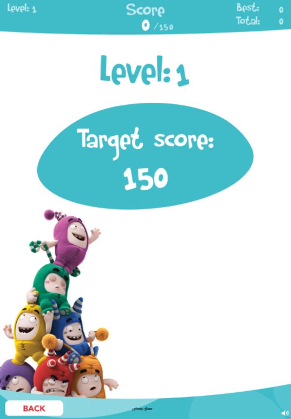 Oddbods Samebods Game Level 1 Screenshot.