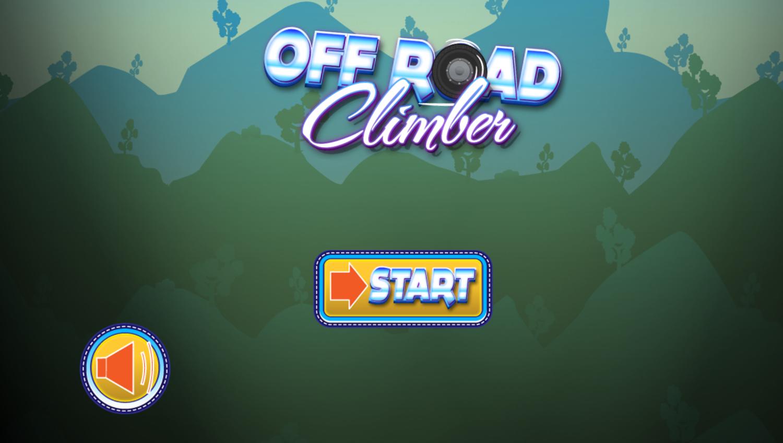 Off Road Climber Game Welcome Screen Screenshot.