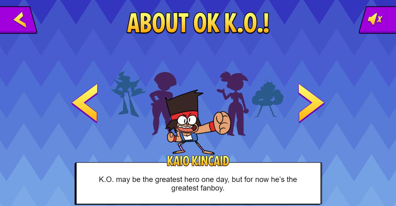 OK K.O. Let's Be Heroes Parking Lot Wars Character Profile Screenshot.