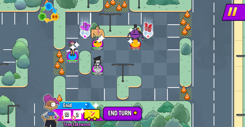 OK K.O. Let's Be Heroes Parking Lot Wars Game Screenshot.