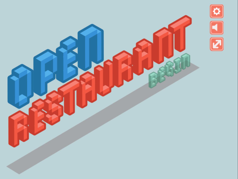 Open Restaurant Game Welcome Screenshot.